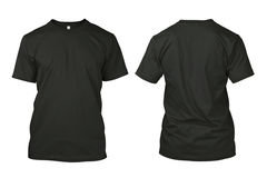 Изолированная пустая черная рубашка Стоковое фото RF