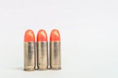 Изолированная пуля 3 губных помад на белизне Стоковые Изображения