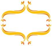 изолированная рамка осени красивейшая выходит реальная белизна Стоковые Изображения RF