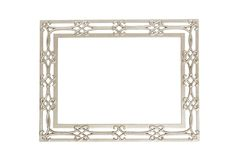 Изолированная серебряная картинная рамка Стоковые Изображения RF
