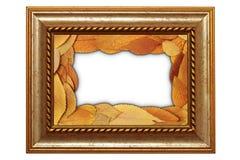 Изолированная старая рамка с листьями Стоковые Изображения