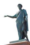 Изолированная старая статуя герцога в городе Одессы, Украине Стоковое Изображение