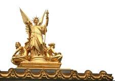 Изолированная статуя Стоковое Фото
