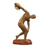 Изолированная статуя Myron иллюстрация штока