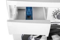 Изолированная стиральная машина на белой предпосылке Стоковые Фото