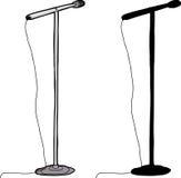 Изолированная стойка микрофона Стоковая Фотография