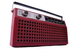 изолированная студия радио 1980s ретро Стоковая Фотография