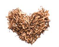 Изолированная сухая форма сердца лист чая Стоковое Изображение RF