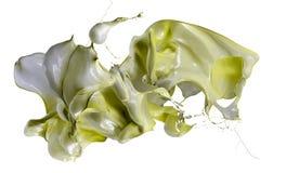 Изолированная съемка брызгать краски Стоковая Фотография RF