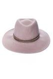 Изолированная темная бежевая шляпа шерстей на белом стиле моды предпосылки Стоковое Фото