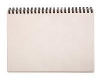 Изолированная тетрадь для эскизов Стоковая Фотография RF