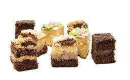 изолированная часть торта губки Стоковые Изображения RF