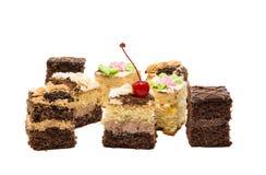 изолированная часть торта губки Стоковое Изображение