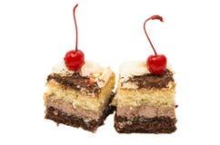 изолированная часть торта губки Стоковые Изображения