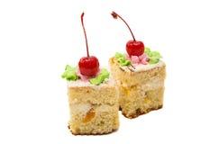 изолированная часть торта губки Стоковая Фотография