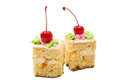 изолированная часть торта губки Стоковое Фото