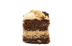 изолированная часть торта губки Стоковые Фотографии RF