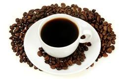 Изолированная чашка кофе Стоковое фото RF