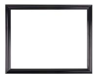 Изолированная черная картинная рамка Стоковая Фотография