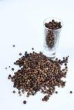 изолированная чернотой белизна перца стоковое фото