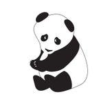 Изолированная черно-белая панда также вектор иллюстрации притяжки corel Стоковые Фото