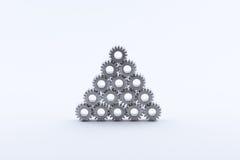 Изолированная шестерня шестерен металла Стоковые Фото