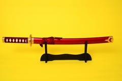 изолированная шпага самураев Стоковое фото RF