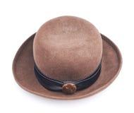 Изолированная шляпа Брайна женская Стоковая Фотография RF