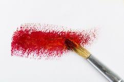 изолированная щеткой белизна краски Стоковое Изображение