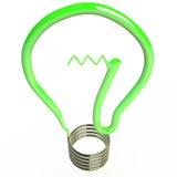 Изолированная электрическая лампочка, 3D Иллюстрация штока