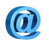 изолированная e белизна символа почты Стоковые Фото