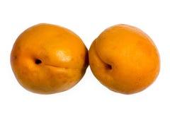 2 изолированного абрикоса Стоковые Изображения RF