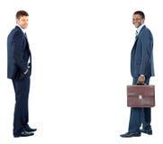 2 изолированного бизнесмена Стоковые Фото