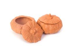 2 изолированного глиняного горшка Стоковые Фотографии RF