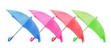 4 изолированного зонтиков Стоковая Фотография RF