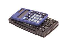 2 изолированного калькулятора Стоковые Изображения