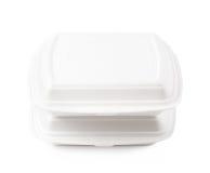 2 изолированного контейнера поставки еды Стоковое фото RF