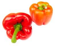 2 изолированного красного перца, Стоковое Изображение RF
