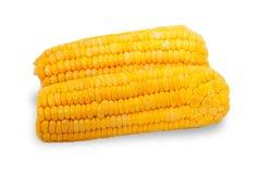 2 изолированного кукурузного початка Стоковая Фотография RF