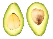 2 изолированного куска авокадоа Стоковые Изображения