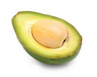 2 изолированного куска авокадоа Стоковая Фотография
