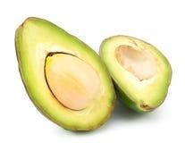 2 изолированного куска авокадоа Стоковое Изображение RF
