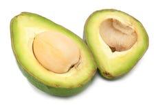 2 изолированного куска авокадоа Стоковое Фото