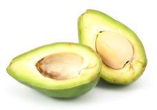 2 изолированного куска авокадоа Стоковые Фотографии RF