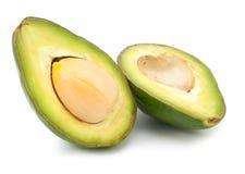 2 изолированного куска авокадоа Стоковое фото RF