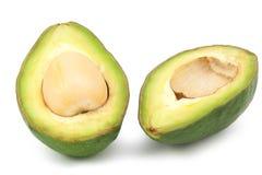 2 изолированного куска авокадоа Стоковая Фотография RF
