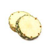 2 изолированного куска ананаса Стоковое Изображение