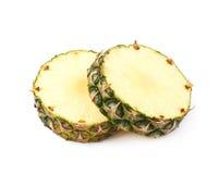 2 изолированного куска ананаса Стоковые Фотографии RF