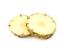 2 изолированного куска ананаса Стоковое Изображение RF