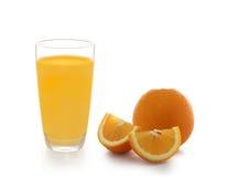 2 изолированного куска апельсина Стоковая Фотография